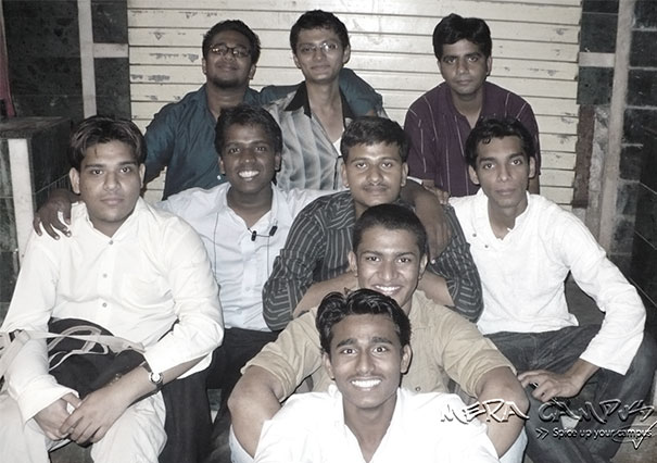 First Mera Campus Team, from top to bottom: Hement, Rahul, Kapil, Waleed, Hari Maurya, Rakesh, Ateeque, Omair, Dharm )